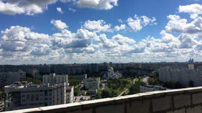 ЖК «Клубный дом на Пришвина» Панорама с крыши новостройки